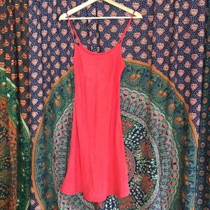 Faux Silk Slip Dress